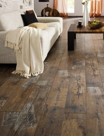 We achieve all this by creating a realistic replication of real hardwood.  Take a look at our laminate flooring collections and see for yourself.