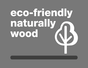 eco-friendly naturally wood